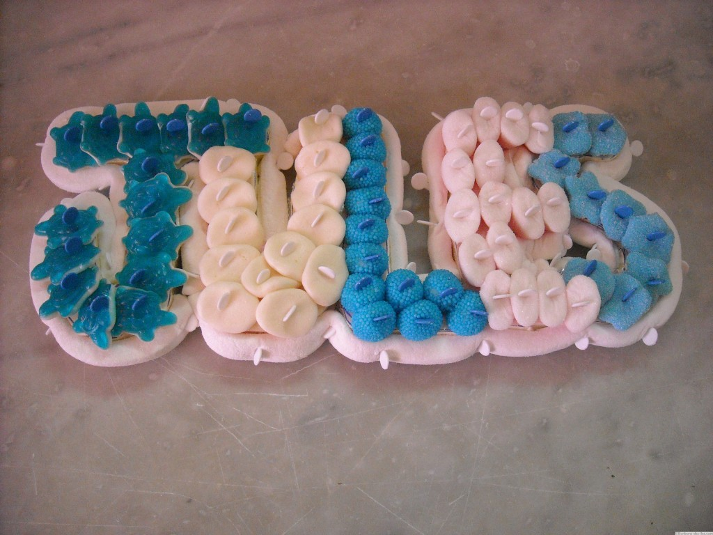 Prénom ou texte bonbons